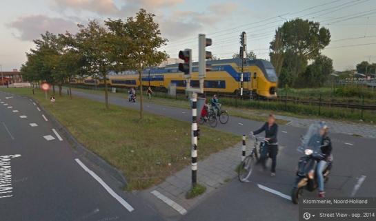 Carril-bici existente en septiembre 2014. Street View