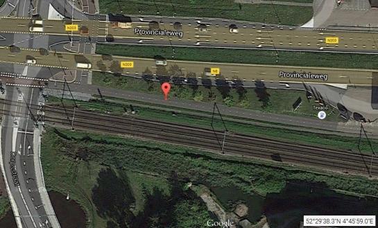 Carril-bici existente en septiembre 2014. Google Maps